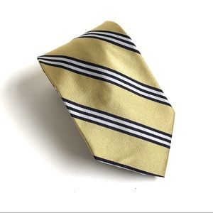 Brooks Brothers BB#1 Rep Tie Gold Navy